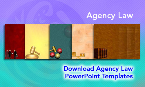 Agency Law Legal PowerPoint Templates