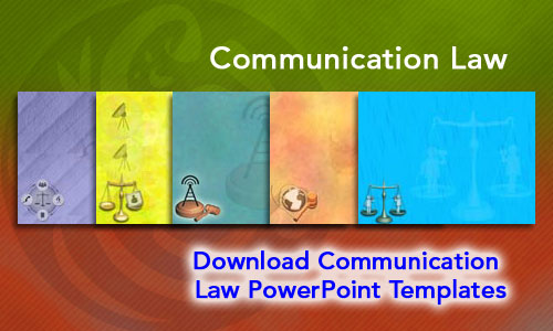 Communication Law Legal PowerPoint Templates