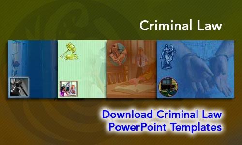 Criminal Law Legal Powerpoint Templates