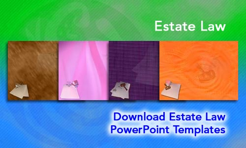 Estate Law Legal PowerPoint Templates