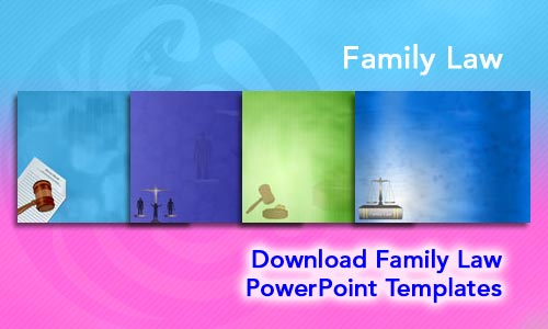 Family Law Legal PowerPoint Templates