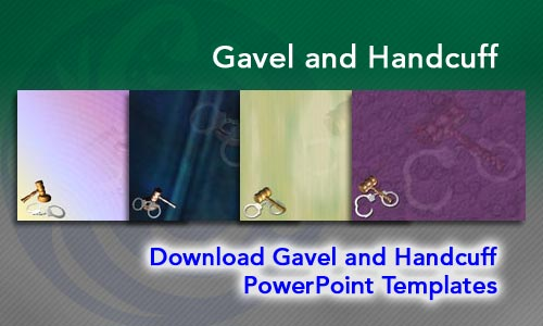 Gavel and Handcuff Legal PowerPoint Templates