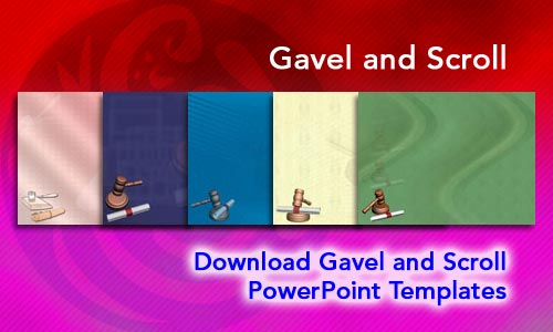 Gavel and Scroll Legal PowerPoint Templates