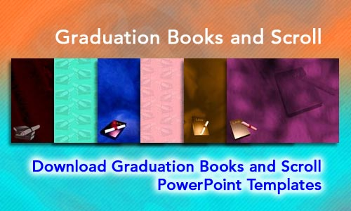 Graduation Books and Scroll Legal PowerPoint Templates