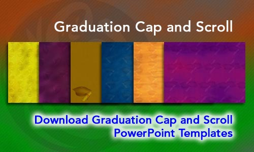 Graduation Cap and Scroll Legal PowerPoint Templates