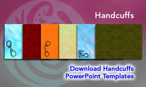 Handcuffs Legal PowerPoint Templates