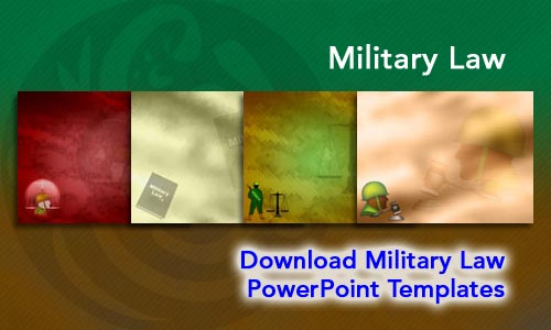 Military Law Legal PowerPoint Templates