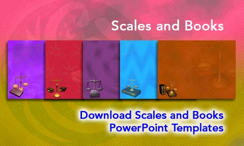 Scales and Books Legal PowerPoint Templates