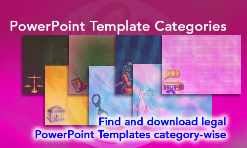 Various Categories Legal PowerPoint Templates